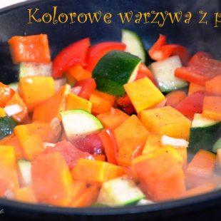 Dodatek do obiadu – kolorowe warzywa z patelni