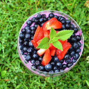 Serniczki jagodowe bez cukru