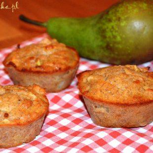 Muffiny gruszkowo-jabłkowe