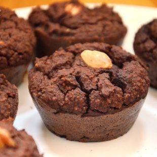 Czekoladowe muffiny z ciecierzycy