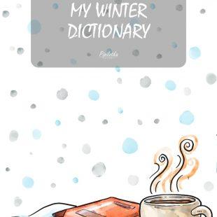 Grafika do pobrania – Zimowy Zeszyt do nauki słówek