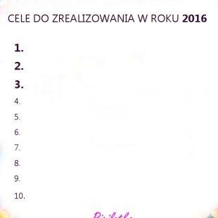 Grafika do wydrukowania – Cele na rok 2016