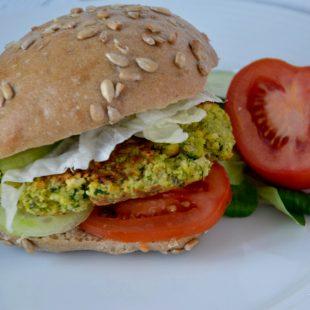 Wegański hamburger