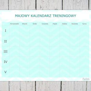 Majowy kalendarz treningowy do druku w 4 wersjach