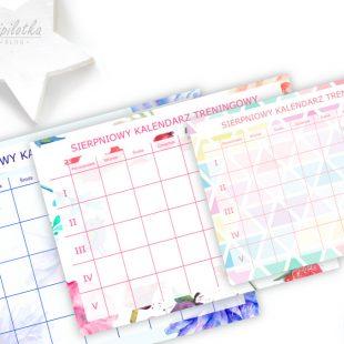 Sierpniowy Kalendarz Treningowy Do Druku