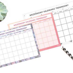 Wrześniowy Kalendarz Treningowy Do Druku