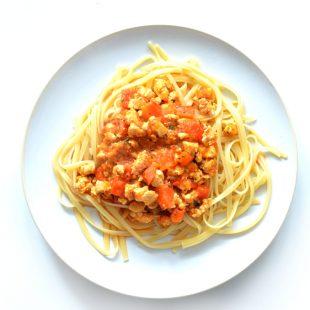 Lekkie spaghetti bolognese